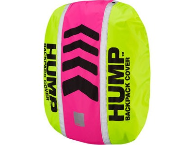 RESPRO Original HUMP waterproof rucsac cover Designed to fit most backpacks between 15 - 35 lit safety yellow / pink glo  click to zoom image