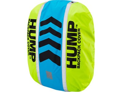RESPRO Original HUMP waterproof rucsac cover Designed to fit most backpacks between 15 - 35 lit safety yellow / atomic blue  click to zoom image