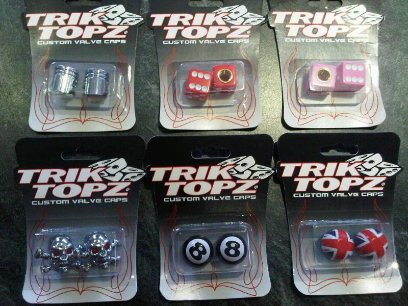 Trik Topz Crown Valve Cap Chrome 4 Pack