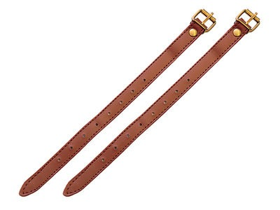 "ADIE One Pair of 10"" Brown Basket Straps"