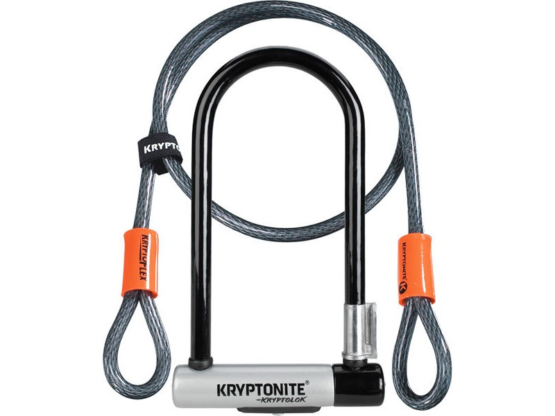 KRYPTONITE KryptoLok Standard U-lock with 4 foot Kryptoflex cable click to zoom image