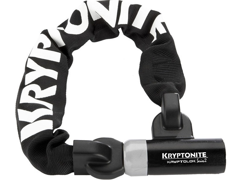 KRYPTONITE Kryptolok 955 Integrated Chain - Sold Secure Silver click to zoom image