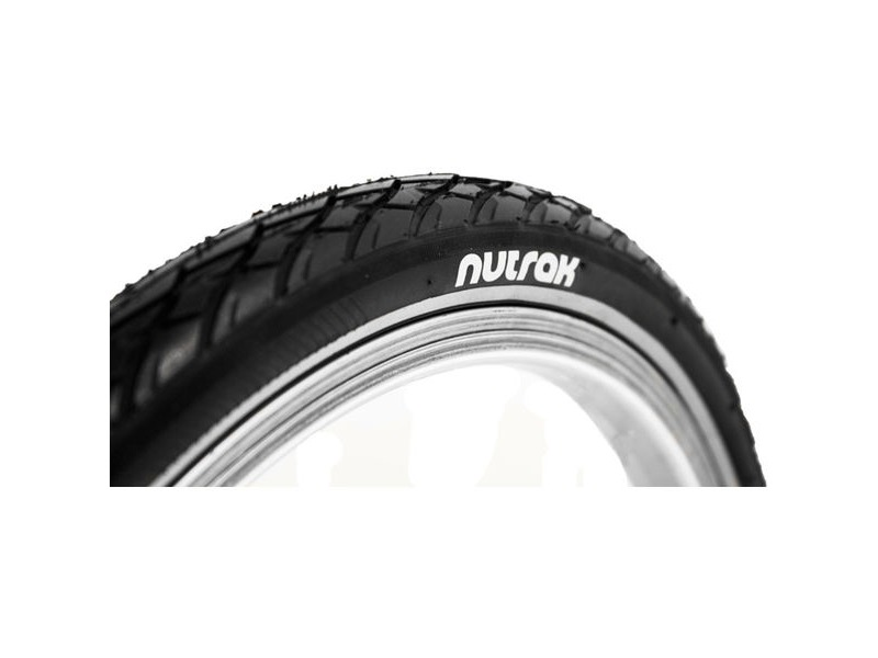 NUTRAK 16 x 1 3 / 8 siped street tyre with reflective stripe and puncture breaker click to zoom image