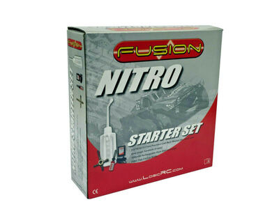 FUSION Nitro Starter Set  Fuel Bottle Glowstart UK Chg + Spanner click to zoom image