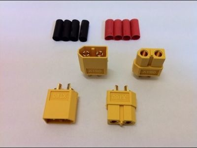 LOGIC RC XT60 Connector Set w/HS 2 pairs