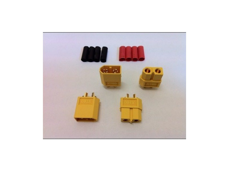 LOGIC RC XT60 Connector Set w/HS 2 pairs click to zoom image