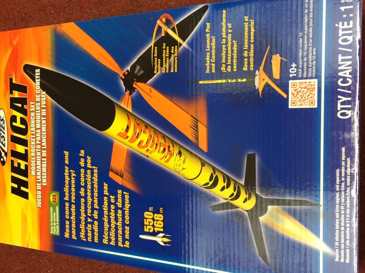 Estes Helicat E2x Launch Set 2750 Rockets Sets Model Rocket Controller