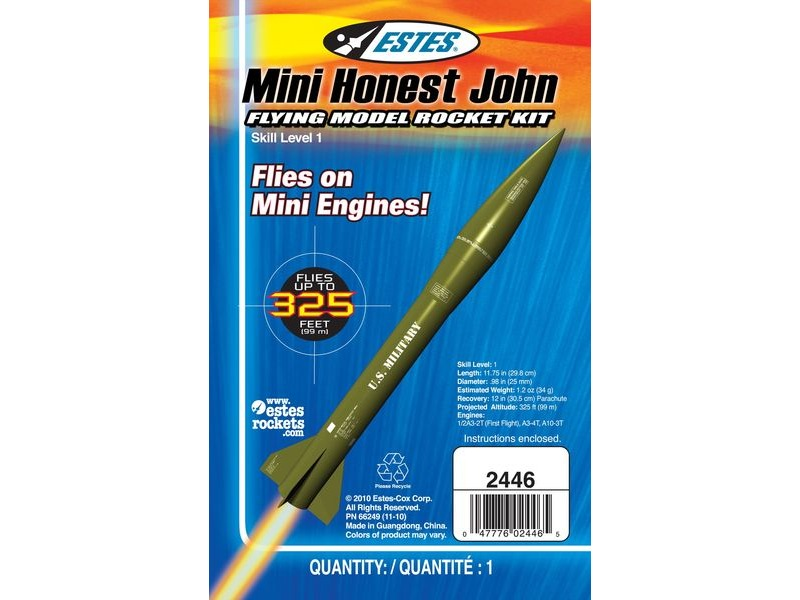 ESTES Mini Honest John - Skill Level 1 click to zoom image
