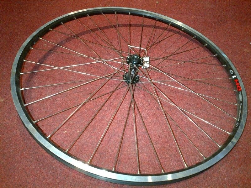 WILKINSON WHEELS 700c Front Deore Hub/Alex dh19 rim Q/R wheel click to zoom image