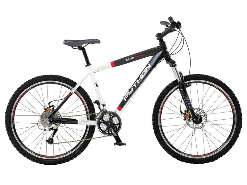 "PYTHON BIKES 18"" IMPACT 9000 27SP DEORE DUAL DISC click to zoom image"