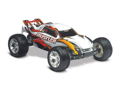 TRAXXAS Rustler XL-5 Brushed 1/10TH SCALE White  click to zoom image