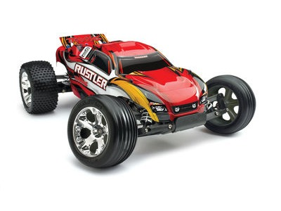 TRAXXAS Rustler XL-5 Brushed 1/10TH SCALE Red  click to zoom image