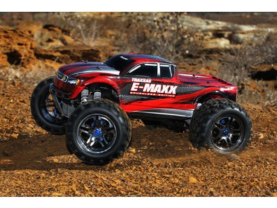 TRAXXAS E-Maxx Brushless MXL-6S TSM (TQi/No Batt or Chg) 1/10 scale Blue  click to zoom image