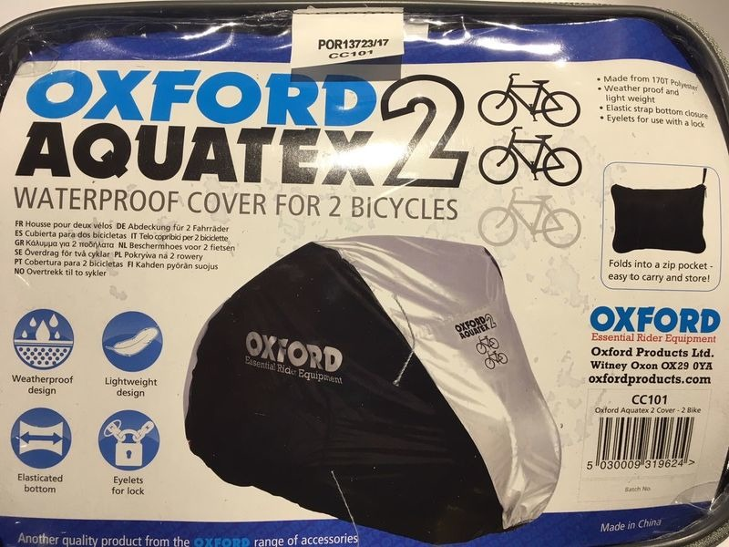 OXFORD PRODUCTS Aquatex Waterproof Bike Cover Double Bike click to zoom image