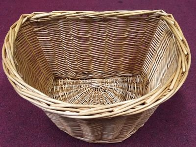 "PREMIER D Shaped 16"" Wicker Basket (Colour Option).  click to zoom image"
