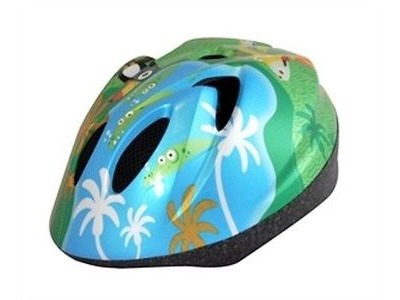 ALPHA PLUS Junior Helmet Animal Jungle 52-56cm Dial Fit