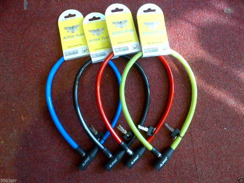 ALPHA PLUS Bicycle Cable Lock with Two Keys click to zoom image
