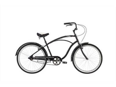 "ALPHA PLUS Surge Men 26"" Single Speed Cruiser 26""wheel 1 speed Black  click to zoom image"