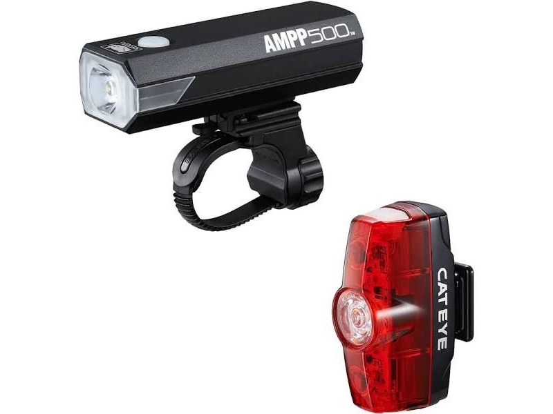 CATEYE AMPP 500 & Rapid Mini Front & Rear Light Set click to zoom image