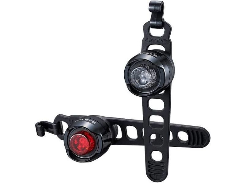 CATEYE ORB RECHARGEABLE FRONT & REAR LIGHT SET click to zoom image