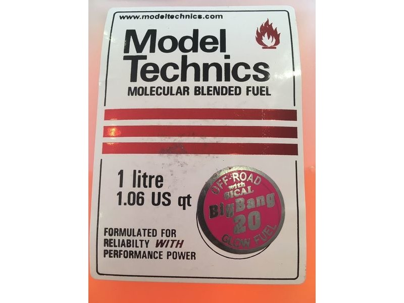 MODEL TECHNICS Big Bang 16% 1 Litre Glow Fuel click to zoom image