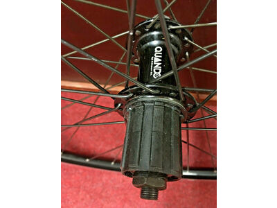 UNBRANDED Rear Hybrid 700c Wheel Quando Hub with 8 speed FreeHub D/Wall Mach 1 rim click to zoom image