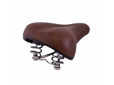 DAWES Heritage Comfort Chrome Sprung Dark Brown Saddle