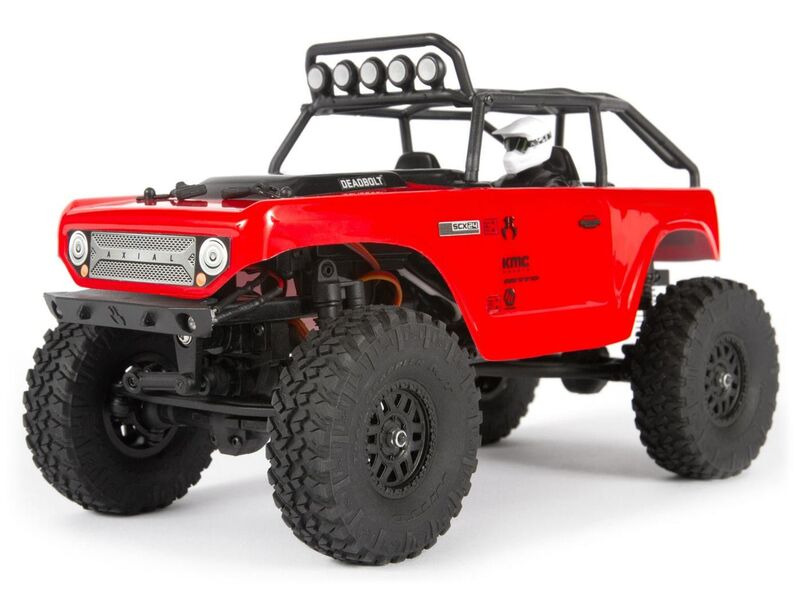 AXIAL SCX24 Deadbolt 1/24th Scale Elec 4WD - RTR, Red click to zoom image