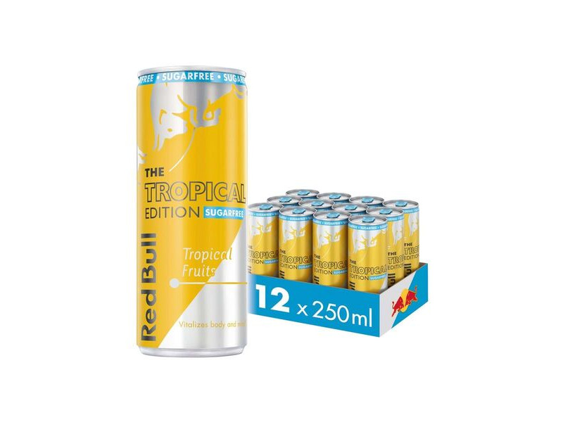 RED BULL TROPICAL SUGAR FREE 12 PACK click to zoom image