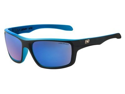 DIRTY DOG Axle Polarised Large Satin Black Crystal Blue Frame/Grey Blue Mirror Po  click to zoom image