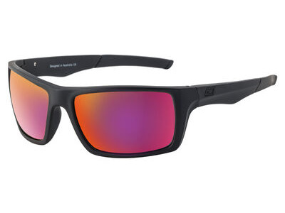 DIRTY DOG Primp Polarised Frame Large Satin Black Frame - Grey/Purple Fusion Mirror Pola  click to zoom image