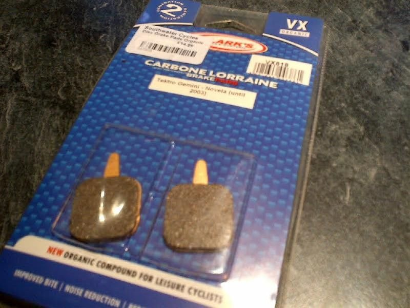 CLARKS CYCLE SYSTEMS Tektro Gemini Novela Disc Brake Pads click to zoom image