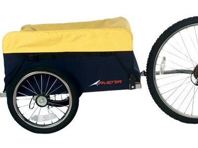 SOUTHWATER CYCLE HIRE Bike Trailer Day Hire Luggage trailer Yellow/Black 16in Wheel click to zoom image